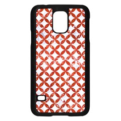 Circles3 White Marble & Red Marble (r) Samsung Galaxy S5 Case (black) by trendistuff