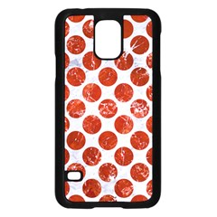 Circles2 White Marble & Red Marble (r) Samsung Galaxy S5 Case (black) by trendistuff