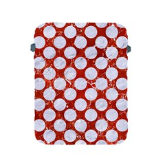 Circles2 White Marble & Red Marble Apple Ipad 2/3/4 Protective Soft Cases by trendistuff