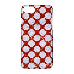Circles2 White Marble & Red Marble Apple Iphone 8 Hardshell Case by trendistuff