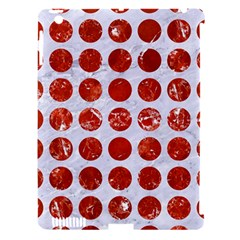 Circles1 White Marble & Red Marble (r) Apple Ipad 3/4 Hardshell Case (compatible With Smart Cover) by trendistuff