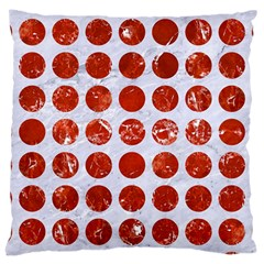 Circles1 White Marble & Red Marble (r) Large Cushion Case (two Sides) by trendistuff