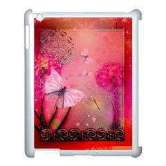 Wonderful Butterflies With Dragonfly Apple Ipad 3/4 Case (white)