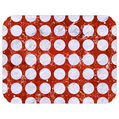 Circles1 White Marble & Red Marble Full Print Lunch Bag by trendistuff