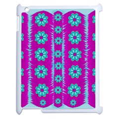 Fern Decorative In Some Mandala Fantasy Flower Style Apple Ipad 2 Case (white) by pepitasart