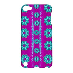 Fern Decorative In Some Mandala Fantasy Flower Style Apple Ipod Touch 5 Hardshell Case by pepitasart