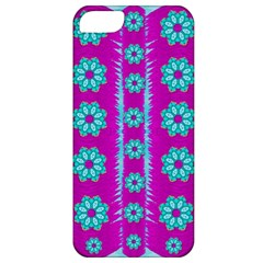 Fern Decorative In Some Mandala Fantasy Flower Style Apple Iphone 5 Classic Hardshell Case by pepitasart
