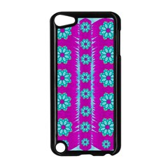 Fern Decorative In Some Mandala Fantasy Flower Style Apple Ipod Touch 5 Case (black) by pepitasart