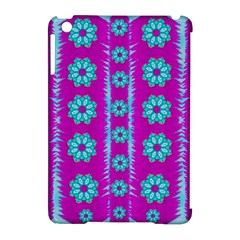 Fern Decorative In Some Mandala Fantasy Flower Style Apple Ipad Mini Hardshell Case (compatible With Smart Cover) by pepitasart