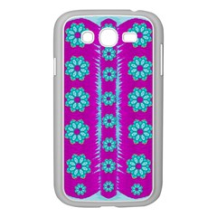 Fern Decorative In Some Mandala Fantasy Flower Style Samsung Galaxy Grand Duos I9082 Case (white) by pepitasart