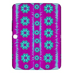 Fern Decorative In Some Mandala Fantasy Flower Style Samsung Galaxy Tab 3 (10 1 ) P5200 Hardshell Case  by pepitasart