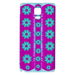 Fern Decorative In Some Mandala Fantasy Flower Style Galaxy Note 4 Back Case by pepitasart