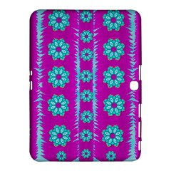 Fern Decorative In Some Mandala Fantasy Flower Style Samsung Galaxy Tab 4 (10 1 ) Hardshell Case  by pepitasart