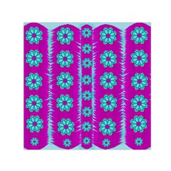 Fern Decorative In Some Mandala Fantasy Flower Style Small Satin Scarf (square) by pepitasart