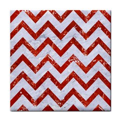 Chevron9 White Marble & Red Marble (r) Face Towel by trendistuff