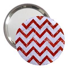 Chevron9 White Marble & Red Marble (r) 3  Handbag Mirrors by trendistuff