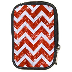 Chevron9 White Marble & Red Marble Compact Camera Cases by trendistuff