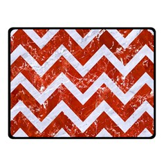 Chevron9 White Marble & Red Marble Fleece Blanket (small) by trendistuff