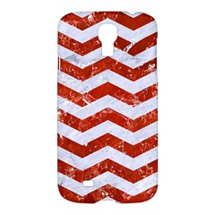 Chevron3 White Marble & Red Marble Samsung Galaxy S4 I9500/i9505 Hardshell Case
