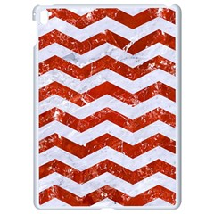 Chevron3 White Marble & Red Marble Apple Ipad Pro 9 7   White Seamless Case by trendistuff