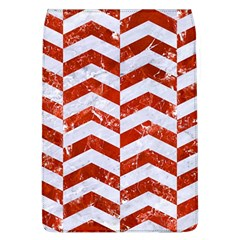 Chevron2 White Marble & Red Marble Flap Covers (l)  by trendistuff