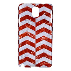 Chevron2 White Marble & Red Marble Samsung Galaxy Note 3 N9005 Hardshell Case by trendistuff