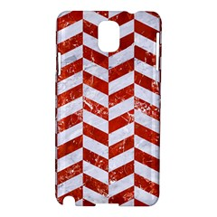 Chevron1 White Marble & Red Marble Samsung Galaxy Note 3 N9005 Hardshell Case by trendistuff