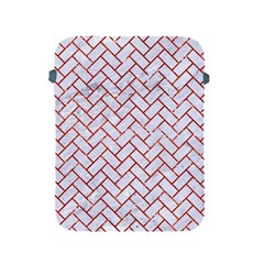 Brick2 White Marble & Red Marble (r) Apple Ipad 2/3/4 Protective Soft Cases by trendistuff