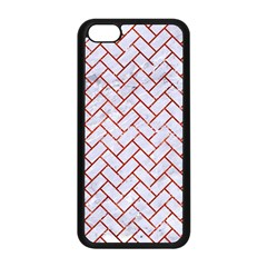 Brick2 White Marble & Red Marble (r) Apple Iphone 5c Seamless Case (black) by trendistuff