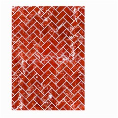 Brick2 White Marble & Red Marble Large Garden Flag (two Sides) by trendistuff