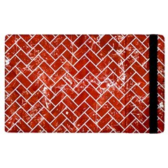 Brick2 White Marble & Red Marble Apple Ipad 2 Flip Case by trendistuff