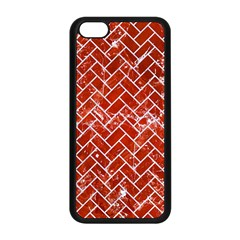 Brick2 White Marble & Red Marble Apple Iphone 5c Seamless Case (black) by trendistuff