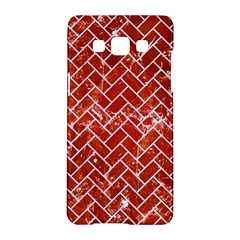 Brick2 White Marble & Red Marble Samsung Galaxy A5 Hardshell Case  by trendistuff