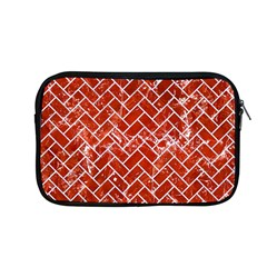 Brick2 White Marble & Red Marble Apple Macbook Pro 13  Zipper Case by trendistuff