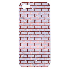 Brick1 White Marble & Red Marble (r) Apple Iphone 5 Hardshell Case by trendistuff