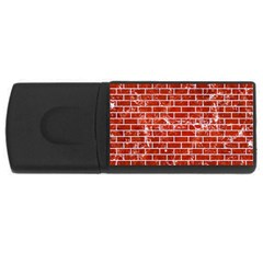 Brick1 White Marble & Red Marble Rectangular Usb Flash Drive by trendistuff
