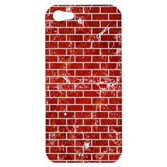 Brick1 White Marble & Red Marble Apple Iphone 5 Hardshell Case by trendistuff