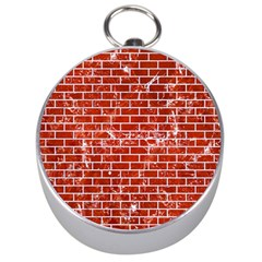 Brick1 White Marble & Red Marble Silver Compasses by trendistuff