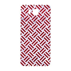 Woven2 White Marble & Red Leather (r) Samsung Galaxy Alpha Hardshell Back Case by trendistuff