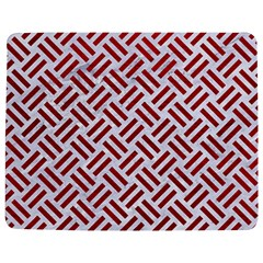 Woven2 White Marble & Red Leather (r) Jigsaw Puzzle Photo Stand (rectangular) by trendistuff