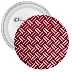 Woven2 White Marble & Red Leather 3  Buttons by trendistuff