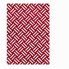 Woven2 White Marble & Red Leather Large Garden Flag (two Sides) by trendistuff