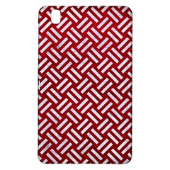 Woven2 White Marble & Red Leather Samsung Galaxy Tab Pro 8 4 Hardshell Case by trendistuff
