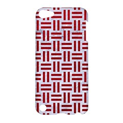 Woven1 White Marble & Red Leather (r) Apple Ipod Touch 5 Hardshell Case by trendistuff