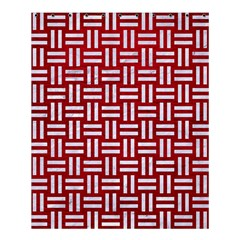 Woven1 White Marble & Red Leather Shower Curtain 60  X 72  (medium)  by trendistuff
