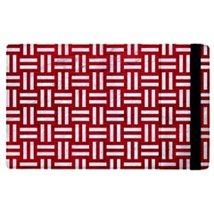 Woven1 White Marble & Red Leather Apple Ipad Pro 9 7   Flip Case by trendistuff