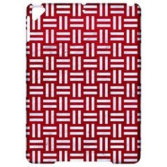 Woven1 White Marble & Red Leather Apple Ipad Pro 9 7   Hardshell Case by trendistuff