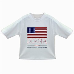Maga Make America Great Again With Us Flag On Black Infant/toddler T Shirts by MAGA