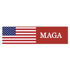 Maga Make America Great Again With Us Flag On Black Satin Scarf (oblong) by snek