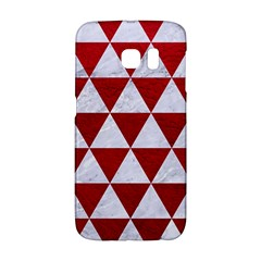 Triangle3 White Marble & Red Leather Galaxy S6 Edge by trendistuff